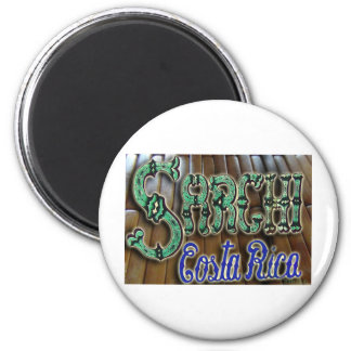 Sarchi Costa Rica Wood 2 Inch Round Magnet