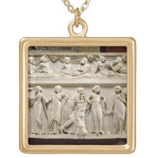 Sarcófago de las musas, romano (mármol) collares personalizados