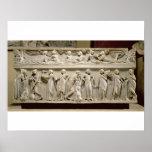 Sarcófago de las musas, romano (mármol) póster