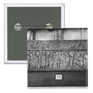 Sarcófago de St. Quitterie Pin Cuadrada 5 Cm