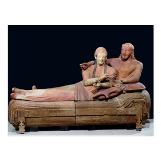 Sarcófago de un par casado 525-500 A C Tarjeta Postal