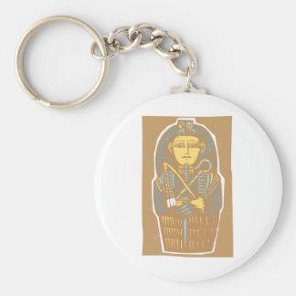 Sarcófago egipcio llavero redondo tipo pin
