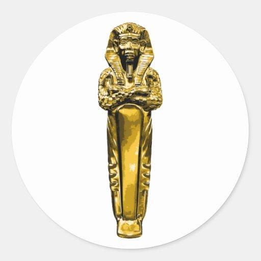 Sarcófago egipcio pegatina redonda