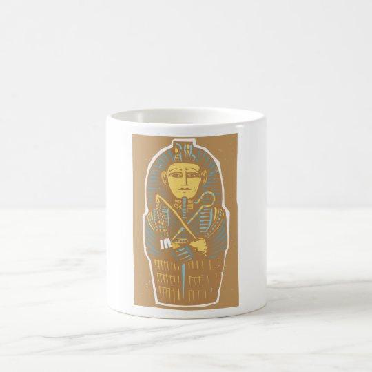 Sarcófago egipcio taza de café