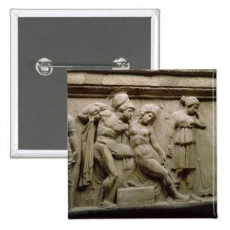 Sarcófago griego con una escena que muestra la bat pin