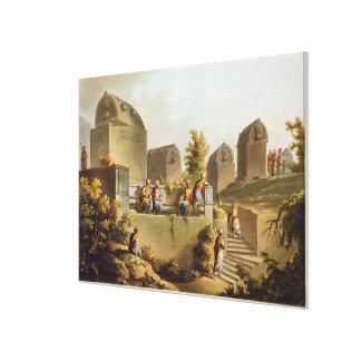Sarcófagos y sepulcros en el jefe del Harbo Impresión En Lienzo Estirada