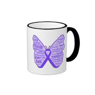 Sarcoidosis Awareness Butterfly Ribbon Mugs