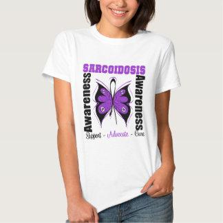 Sarcoidosis Awareness Butterfly Tee Shirt