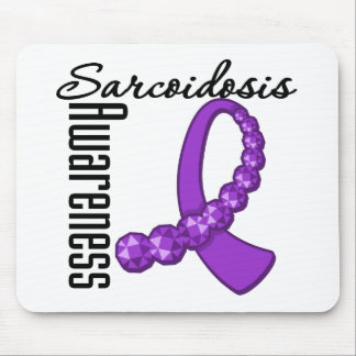 Sarcoidosis Awareness Gemstone Ribbon Mouse Pad