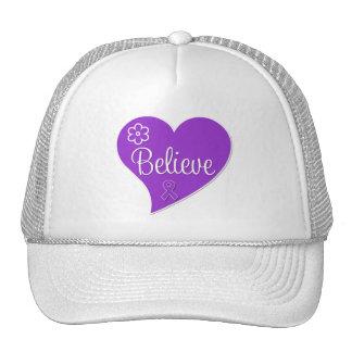 Sarcoidosis Believe Heart Trucker Hat
