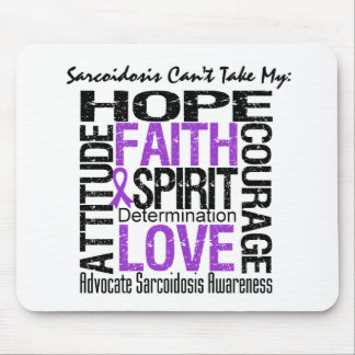 Sarcoidosis Can't Take My Hope Collage Mouse Pad