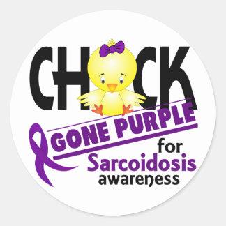 Sarcoidosis Chick Gone Purple 2 Classic Round Sticker