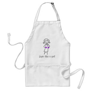 Sarcoidosis Fight Like A Girl (Retro) Adult Apron
