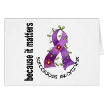 SARCOIDOSIS Flower Ribbon 3 Card
