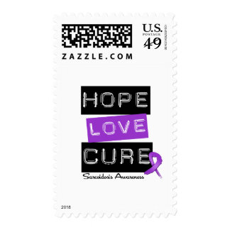 Sarcoidosis Hope Love Cure Stamps