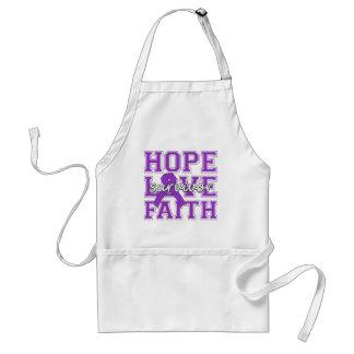 Sarcoidosis Hope Love Faith Survivor Adult Apron