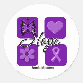 Sarcoidosis Hope Love Inspire Awareness Classic Round Sticker