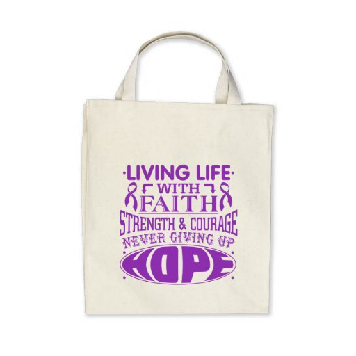 Sarcoidosis Living Life with Faith Canvas Bag