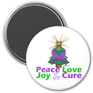 Sarcoidosis Peace Love Joy Cure 3 Inch Round Magnet