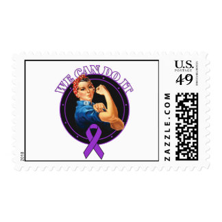 Sarcoidosis - Rosie The Riveter - We Can Do It Postage Stamps