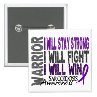 Sarcoidosis Warrior Pinback Button