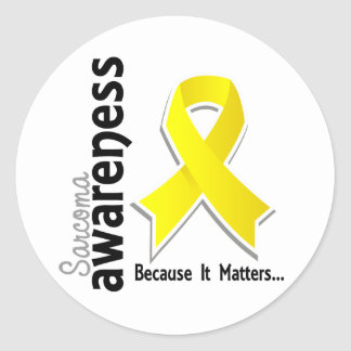 Sarcoma Awareness 5 Classic Round Sticker