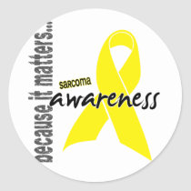 Sarcoma Awareness Classic Round Sticker
