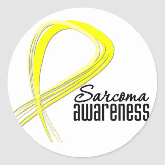 Sarcoma Awareness Grunge Ribbon Classic Round Sticker