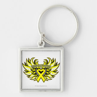 Sarcoma Awareness Heart Wings.png Keychain