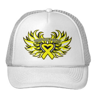 Sarcoma Awareness Heart Wings.png Trucker Hat