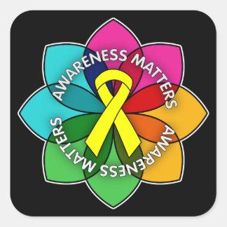 Sarcoma Awareness Matters Petals Square Sticker