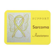 Sarcoma Awareness Ribbon Angel Custom Magnet