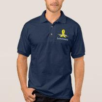 Sarcoma Awareness Ribbon with Swans Polo Shirt