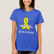 Sarcoma Awareness Ribbon with Swans T-Shirt