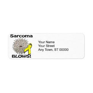Sarcoma Blows Awareness Design Label
