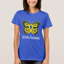 Sarcoma Butterfly Awareness Ribbon T-Shirt