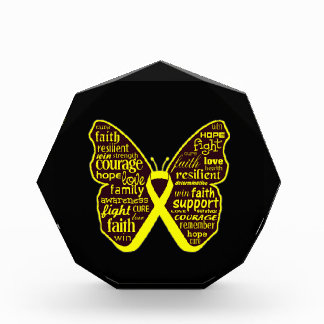 Sarcoma Butterfly Collage of Words Awards