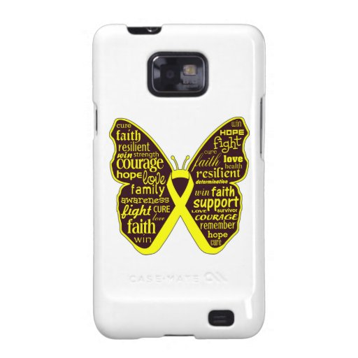 Sarcoma Butterfly Collage of Words Samsung Galaxy S2 Cover