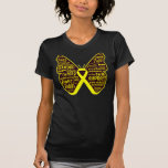 Sarcoma Butterfly Collage of Words T Shirt