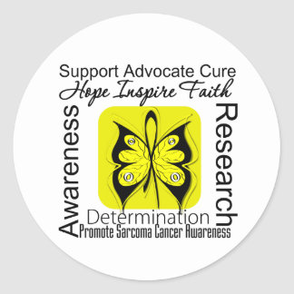 Sarcoma Butterfly Inspirations Classic Round Sticker