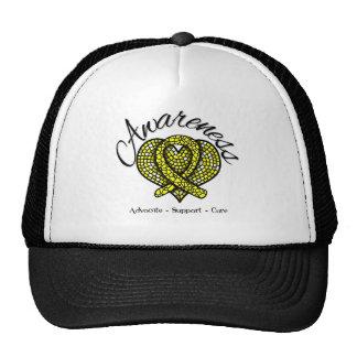 Sarcoma Cancer Awareness Mosaic Heart Trucker Hat