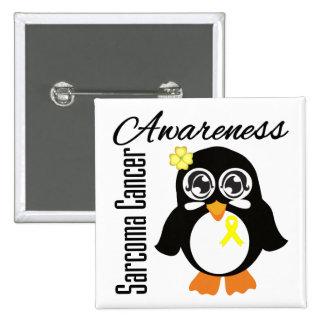 Sarcoma Cancer Awareness Penguin Buttons