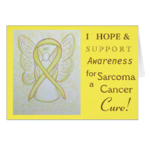 Sarcoma Cancer Awareness Ribbon Greeting Card