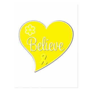 Sarcoma Cancer Believe Heart Postcard