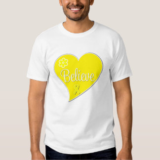 Sarcoma Cancer Believe Heart Tee Shirt