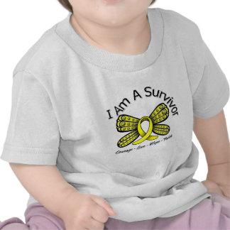 Sarcoma Cancer Butterfly I Am A Survivor Tshirts