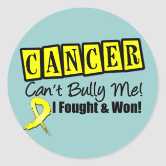 Sarcoma Cancer Can't Bully Me...I Fought I Won Classic Round Sticker