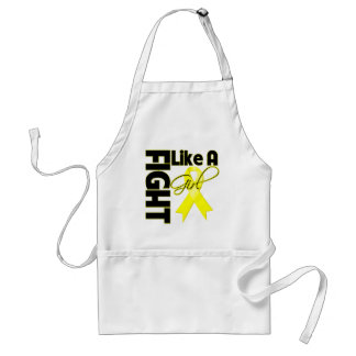 Sarcoma Cancer Chic Fight Like A Girl Ribbon Adult Apron