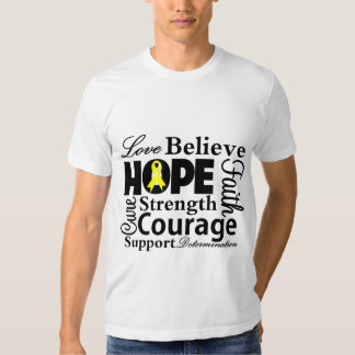 Sarcoma Cancer Collage of Hope Tee Shirt