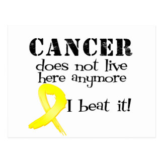 Sarcoma Cancer Does Not Live Here Anymore Postcard